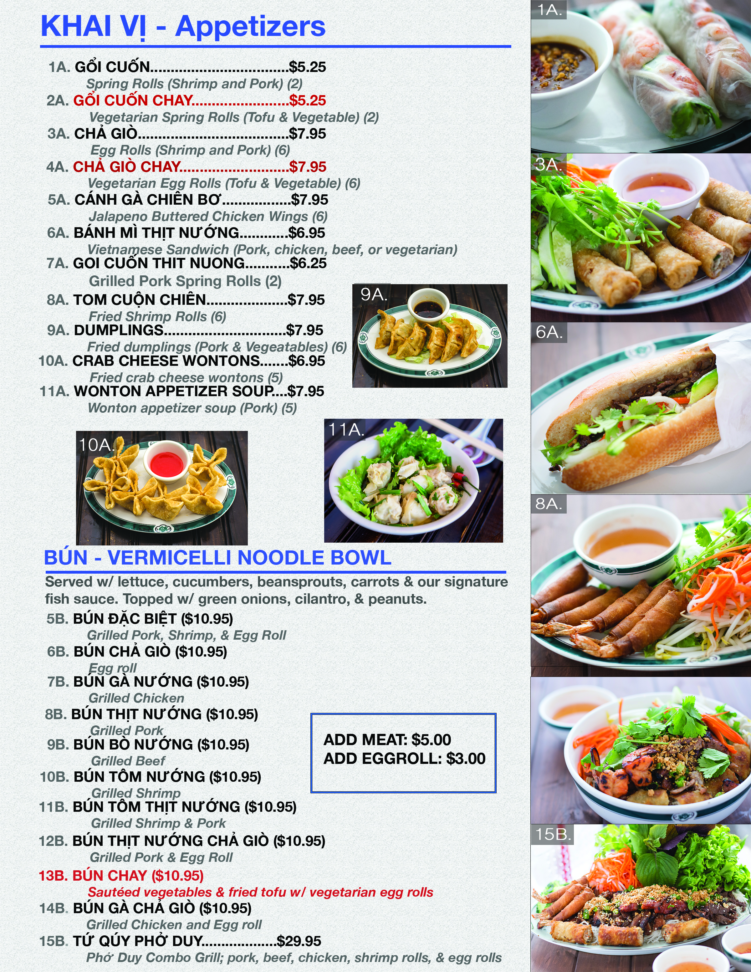 Pho Duy Restaurant Menu Page 1 6/4/17
