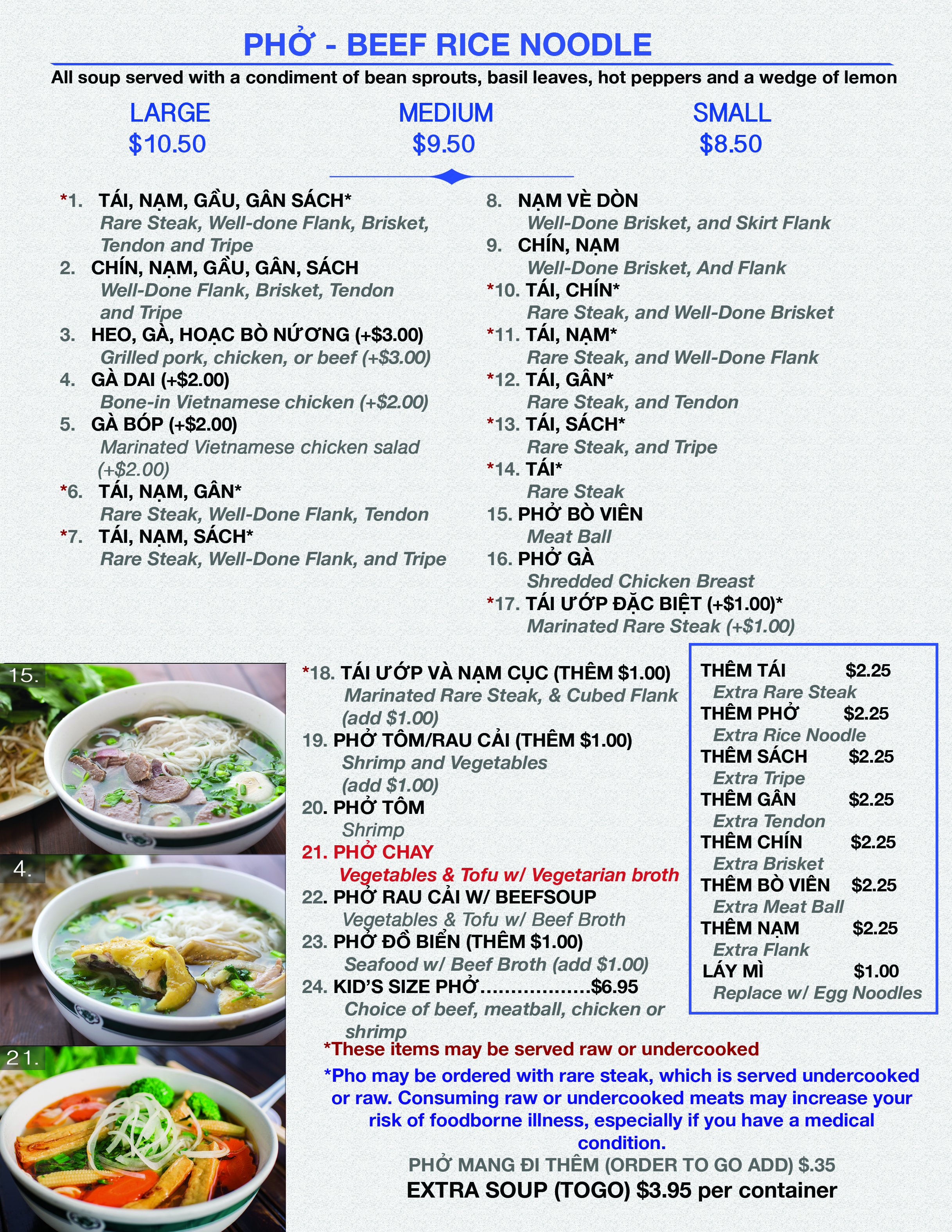 Pho Duy Restaurant Menu Page 2 6/4/17
